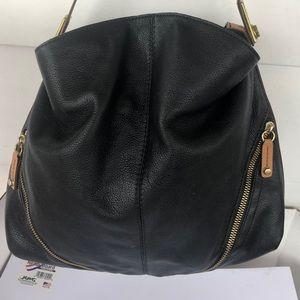 or Yani black brown leather bag